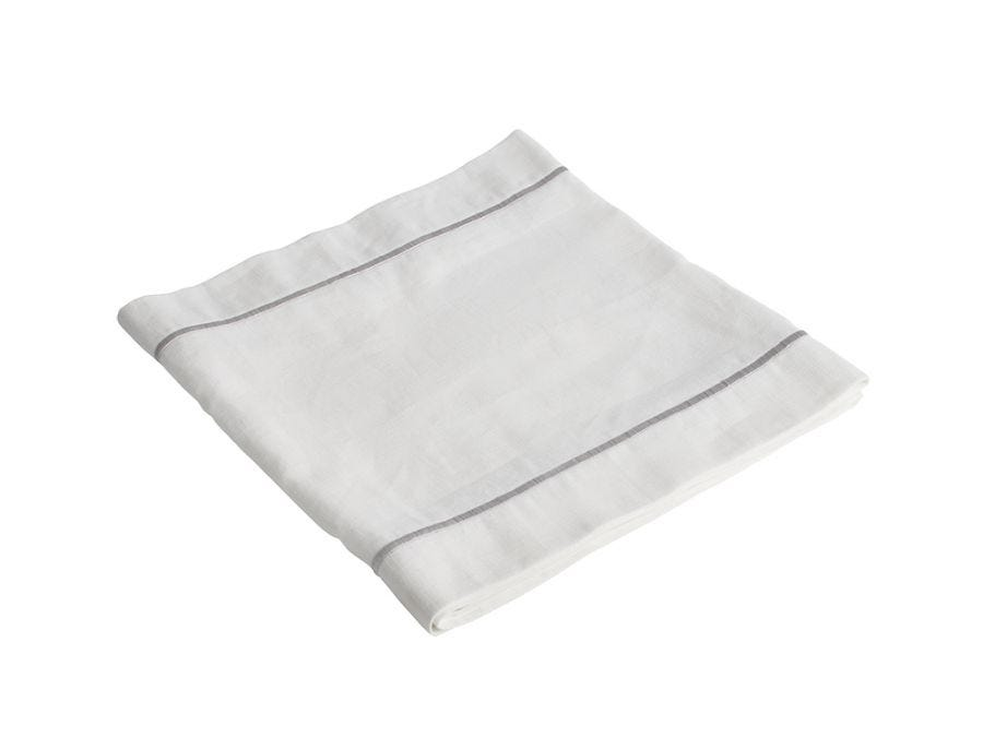 White Embroidered Table Runner