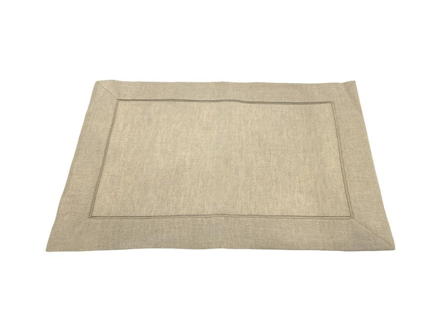 Natural Embroidered Placemat