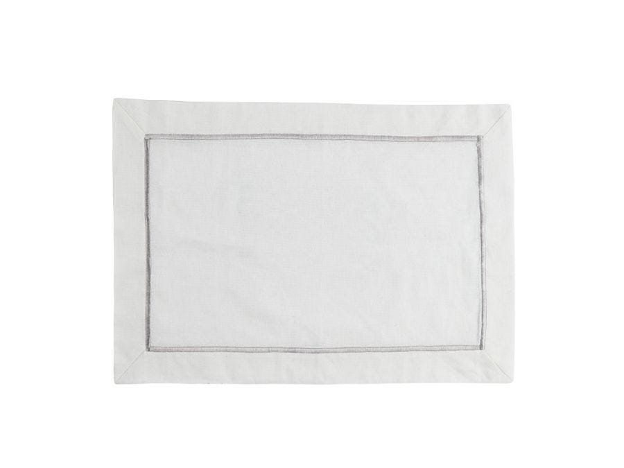 White Embroidered Placemat