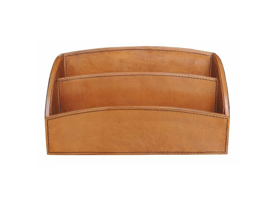 Marlon Leather Letter Tray