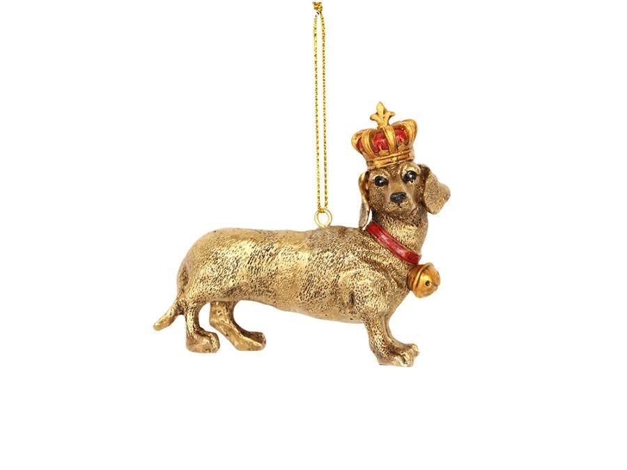 Gold Dachshund  Decoration