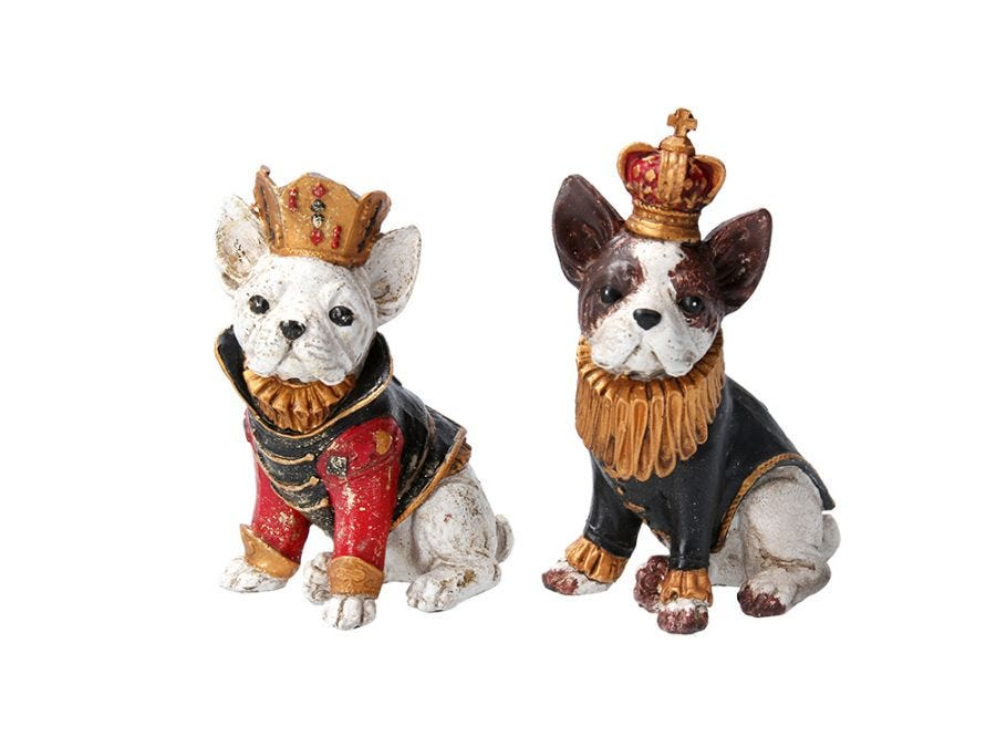 Bulldog Mini Ornament Assorted