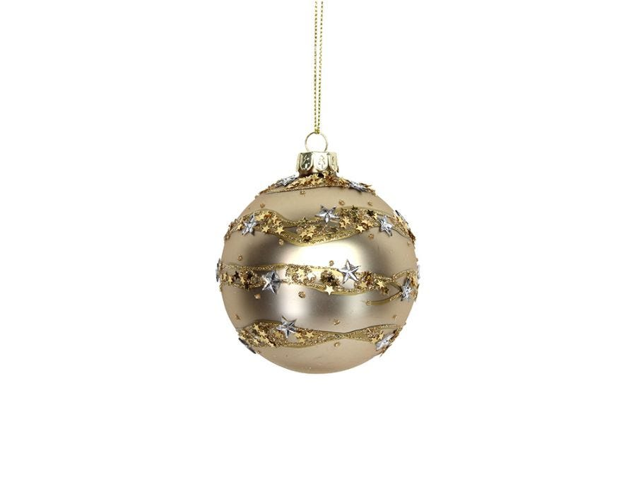 Star Band Gold Bauble