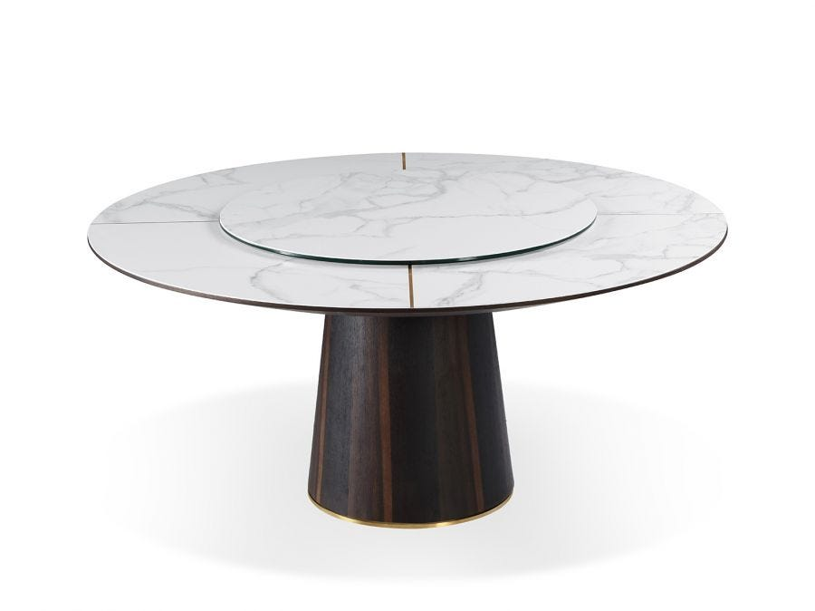 Dining Table with Lazy Suzan,1.6dia