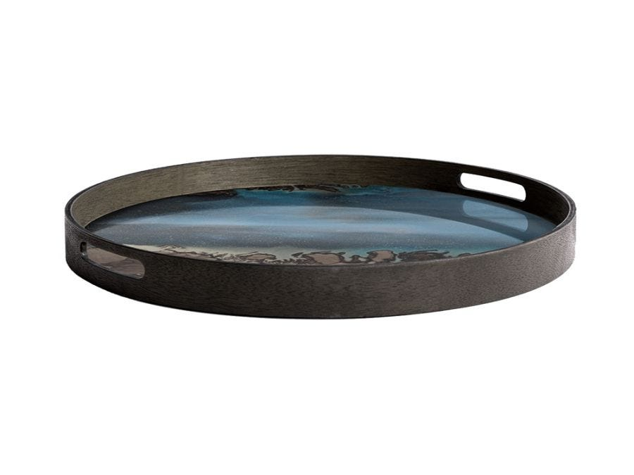 Slate Organic Round Tray