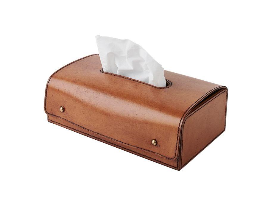 Marlon Leather Tissue Box