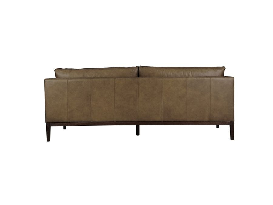 Vancouver 3 Seat Sofa, Parrot Grey Leather