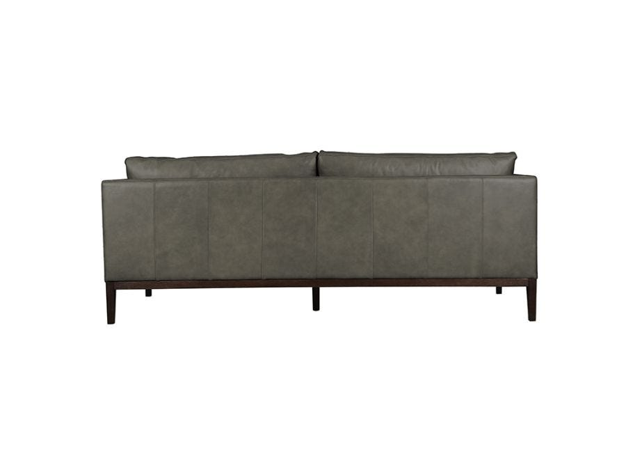 Vancouver 3 Seat Sofa, Cortina Charcoal Leather