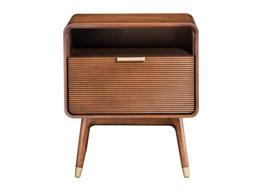 Dean Bedside Table, Brown