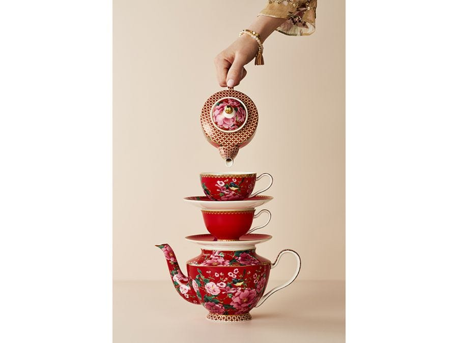 Silk Road Tea for One with Infuser Red