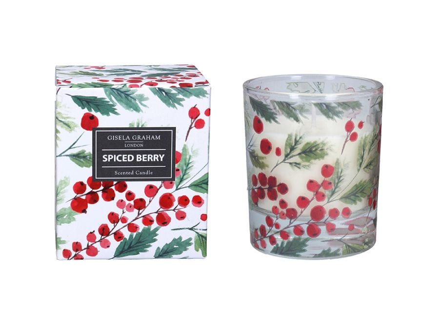 Red Berries Scented Candle