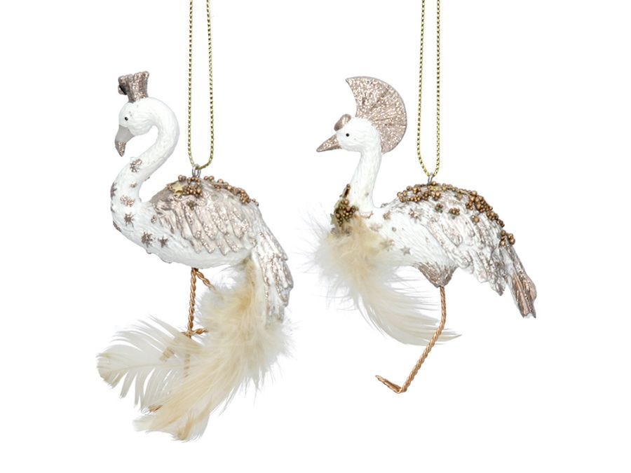 Fancy Flamingo or Christmas Crane Decoration, Assorted Designs
