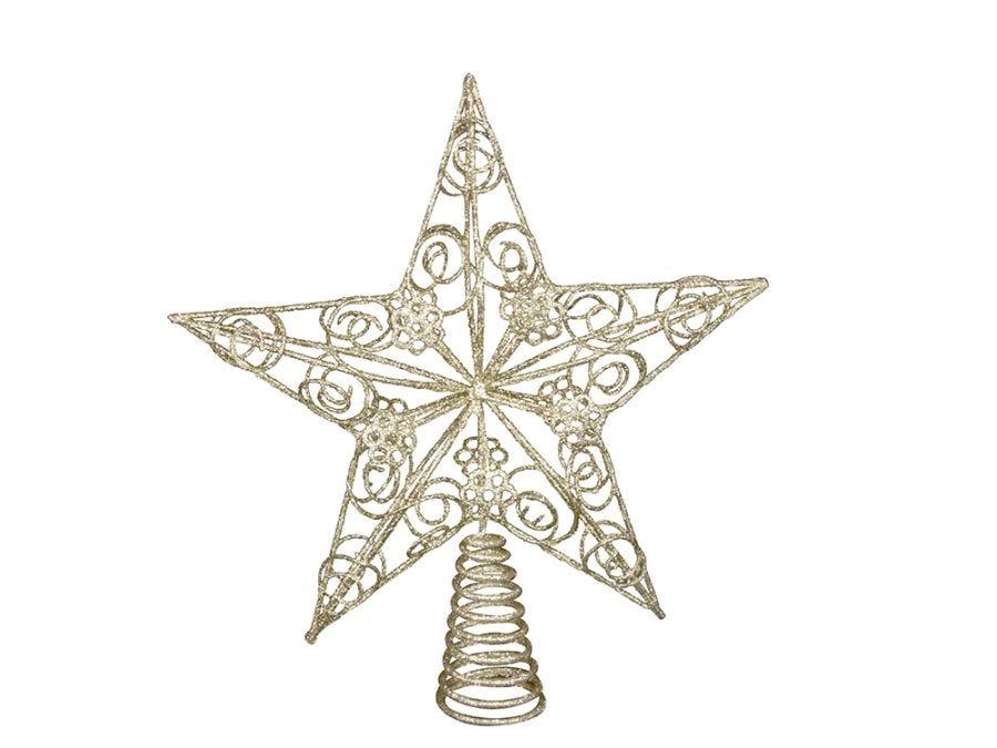 Gold Art Star Tree Topper