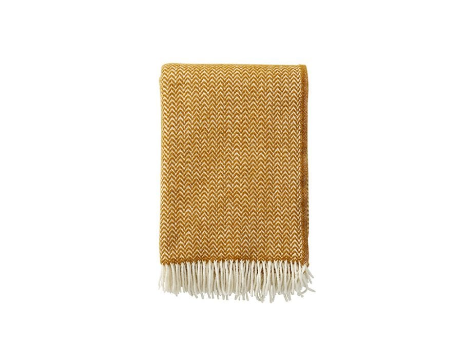 Chevron Brushed Eco Lambs Wool Throw