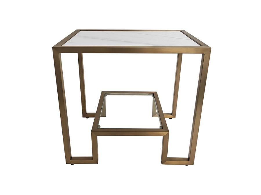 Podium Marble Side Table