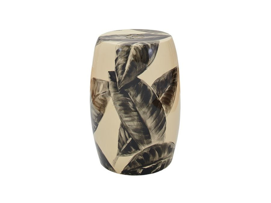 Leaf Ceramic Stool