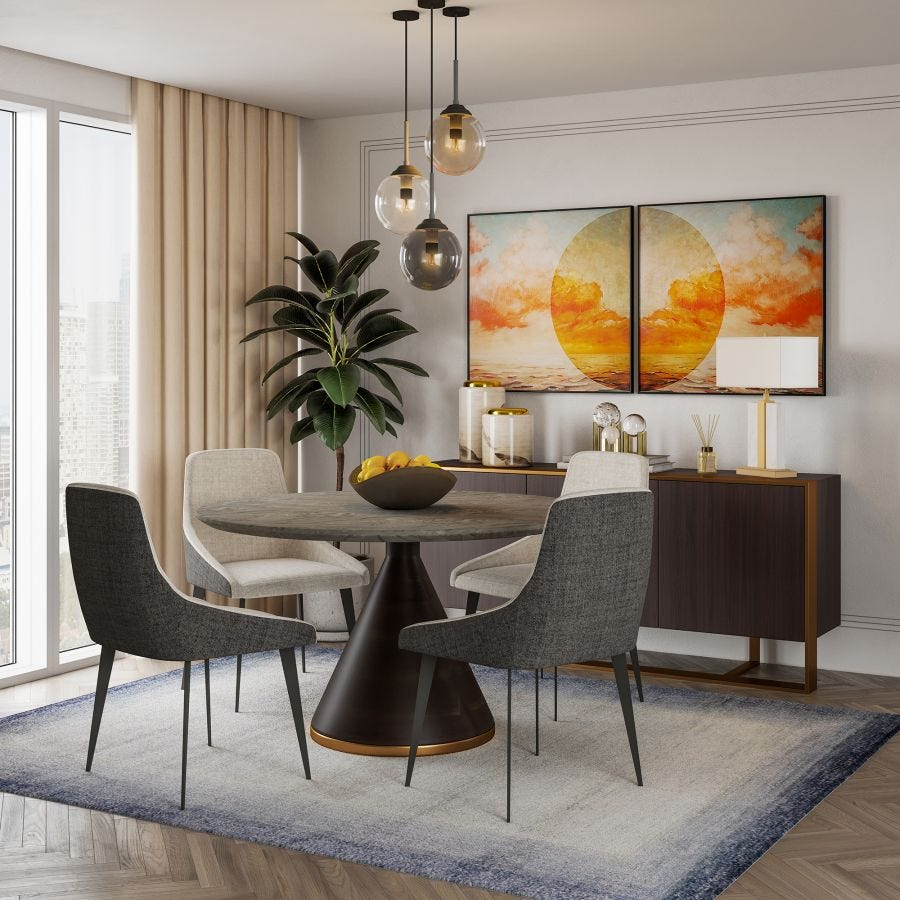 Ferris Marble Dining Table
