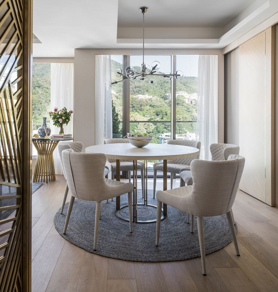 Concrete White Dining Table