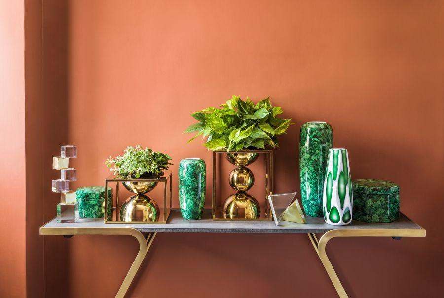 Malachite Vase - Large
