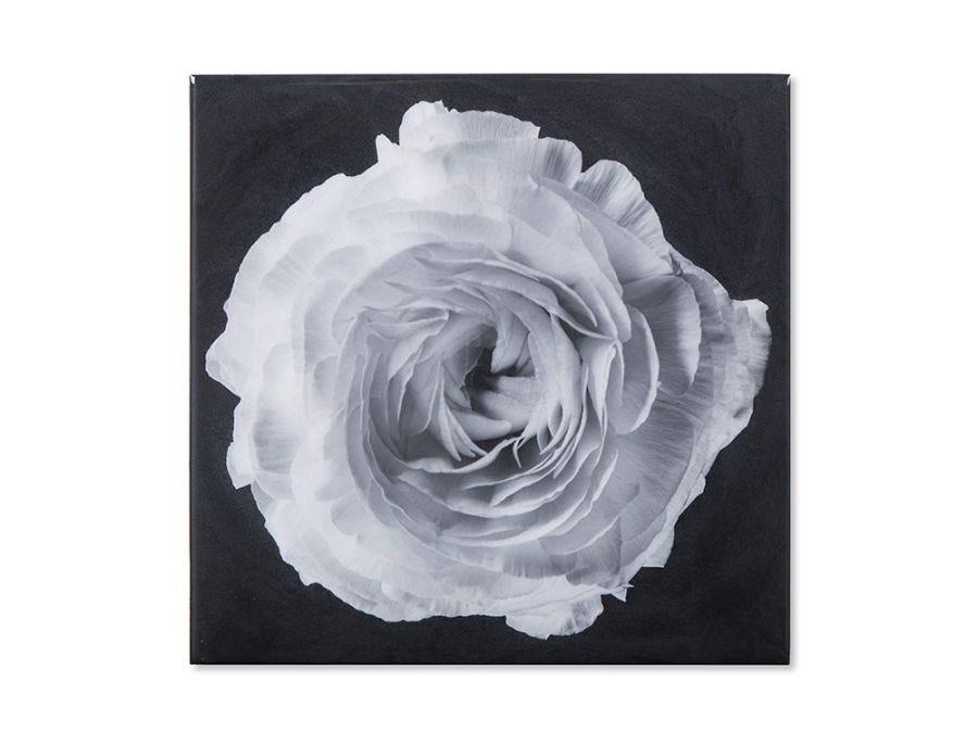 Black & White Flower, Epoxy B Wall Art