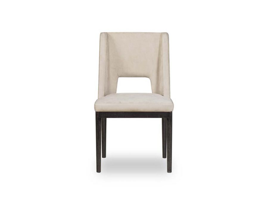 Maddison Dining Chair, Beige Leather