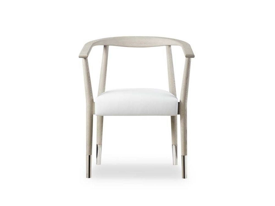 Soho Chair, Grey Oak With White Leather