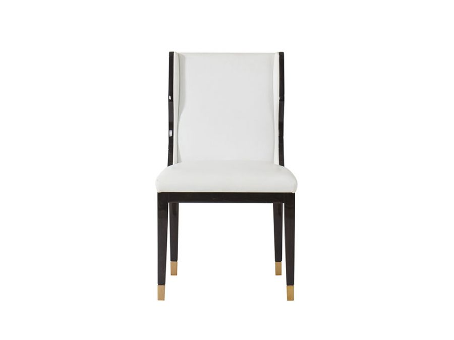 Taylor Dining Chair, Fallon White Leather