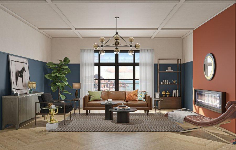 Brooklyn 3 Seat Sofa, Leather