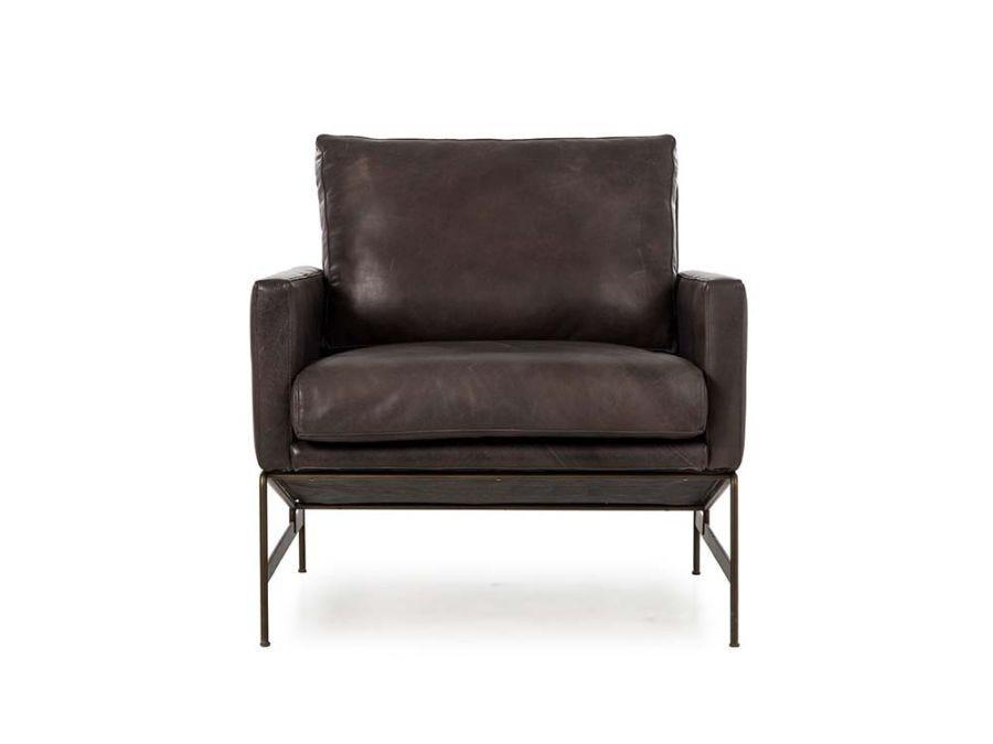 Vanessa Chair, Black Leather
