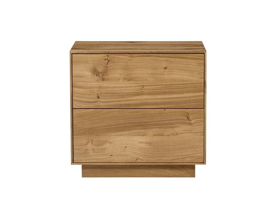 Sands 2 Drawer Bedside, Natural Oak