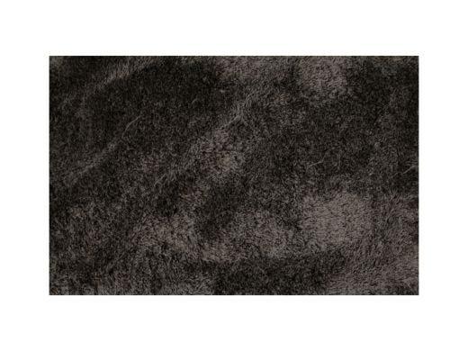 Silky Shaggy Black Rug 8x10