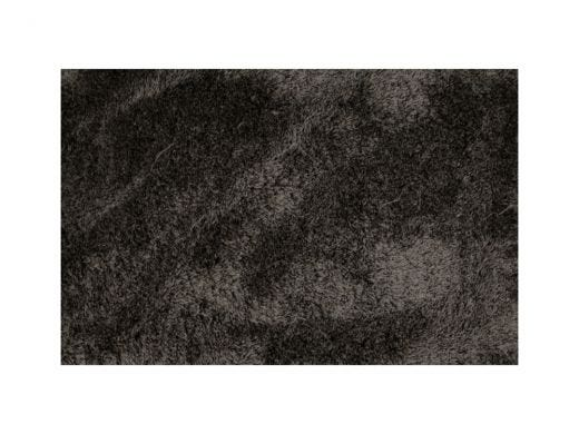 Silky Shaggy Black and White Rug 6x9