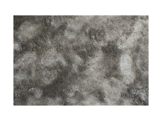 Silky Shaggy Rug, Silver 9x12