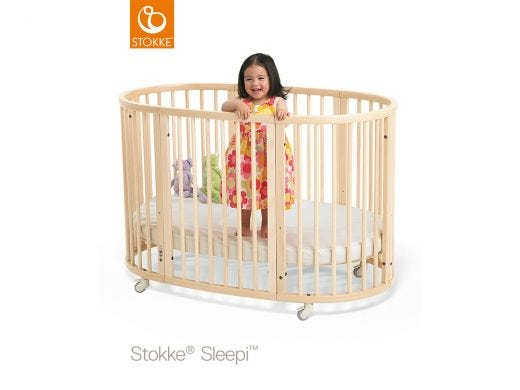 Sleepi Natural Bed 120cm With Mattress