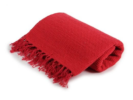Pea Knot Rug - Small Red