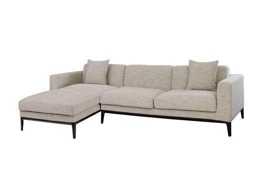 Turin L Shape Sofa Left, Natural