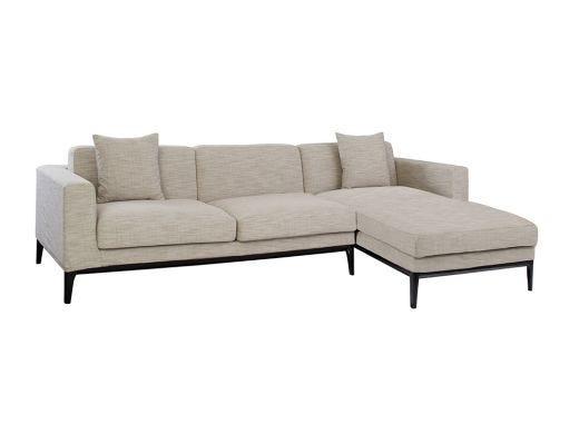 Turin L Shape Sofa Right, Natural