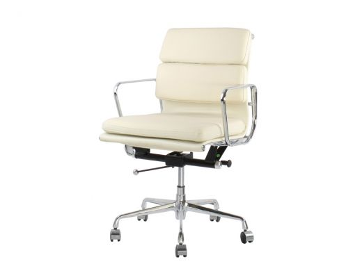 Eames EA217 Office Chair, Beige Leather