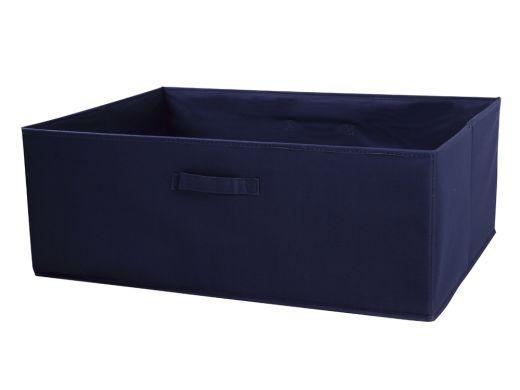Canvas Box Navy Large