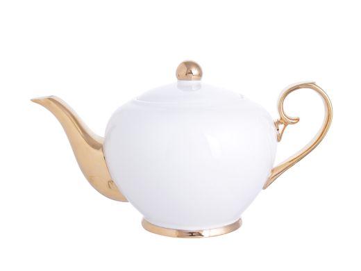 Gold and White Tea Pot