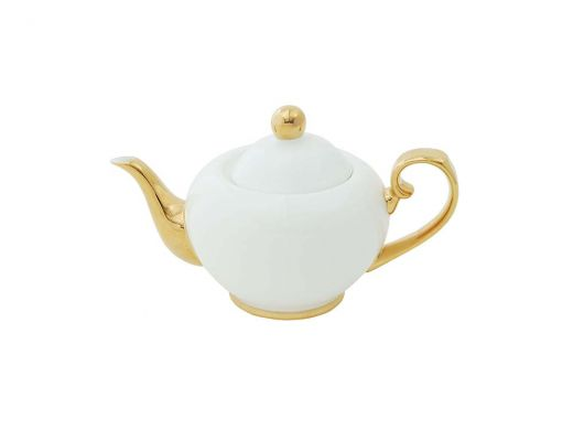Gold and White 2 Cup Teapot
