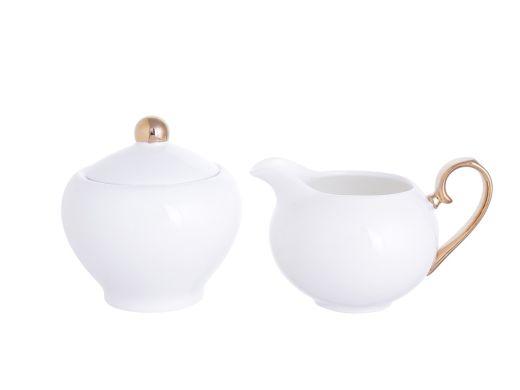 Gold and White Creamer Set