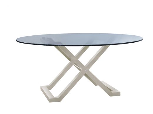 X Table Base Only- Grey Gloss