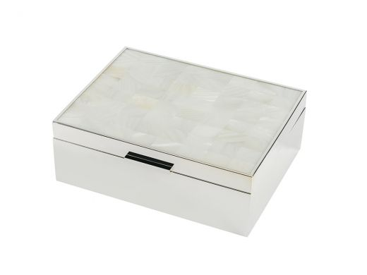 White Mother of Pearl Jewellery Box