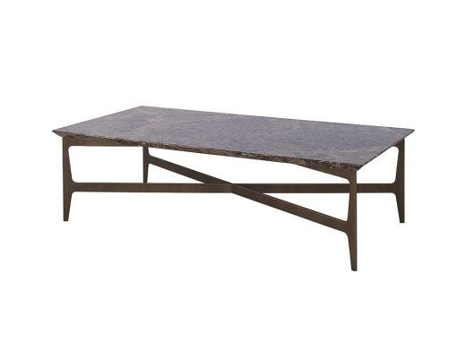 Camden Coffee Table, Brown Marble