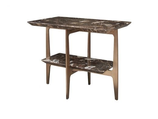 Camden Side Table, Brown Marble
