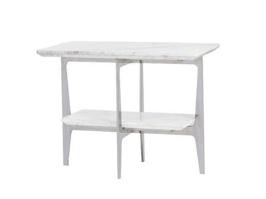 Rect Side Table - Marble