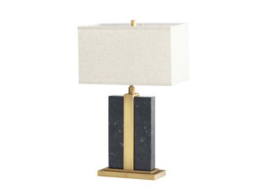 Fleming Table Lamp, Black Marble