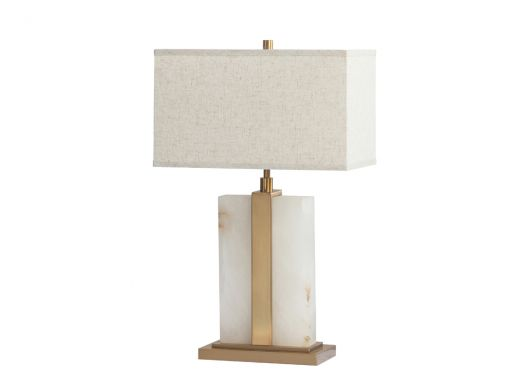 Fleming Table Lamp, White Marble