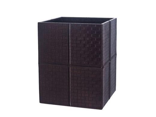 Brown Cube Waste Paper Bin
